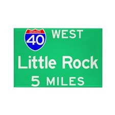 Little Rock AR 40 West Rectangle Magnet (100 pack)