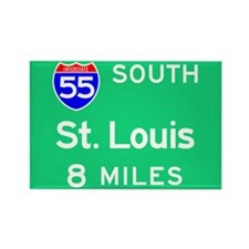 St. Louis MO 55 South Rectangle Magnet (100 pack)