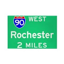 Rochester NY 90 West Rectangle Magnet (100 pack)
