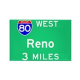Reno NV 80 West Rectangle Magnet (100 pack)