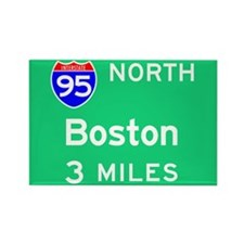 Boston MA 95 North Rectangle Magnet (100 pack)