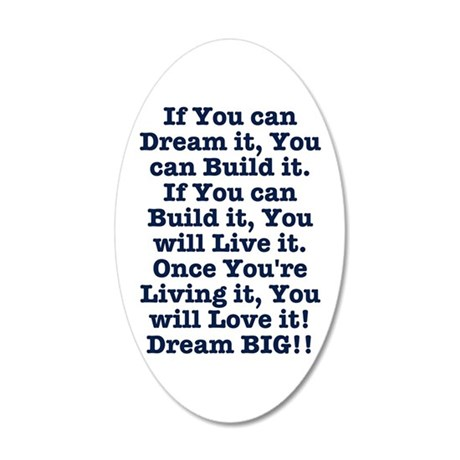 Dream, Build, Live, Love Wall Decal