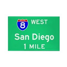 San Diego CA 8 West Rectangle Magnet (100 pack)