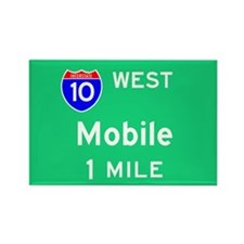 Mobile AL 10 West Rectangle Magnet (100 pack)