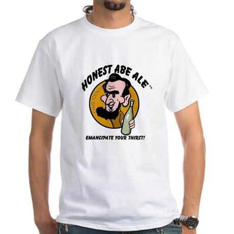 Honest Abe Ale White T-Shirt