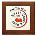 Sweet Cherry Beer Framed Tile