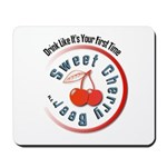 Sweet Cherry Beer Mousepad