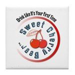 Sweet Cherry Beer Tile Coaster