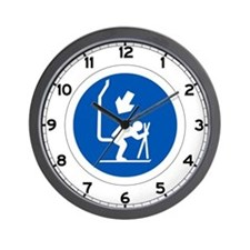 Chair Lift - Andorra Wall Clock