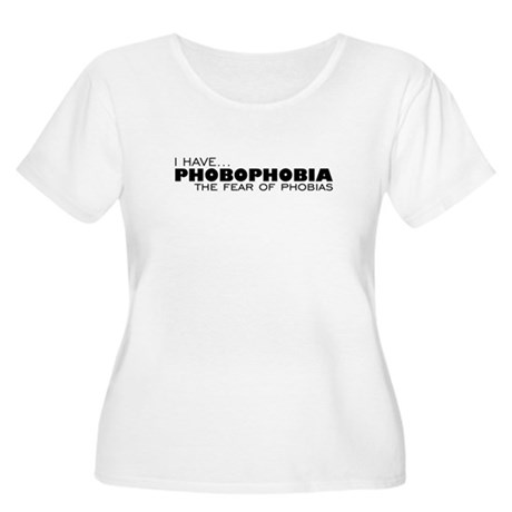 Phobia-Phobia Women's Plus Size Scoop Neck T-Shirt