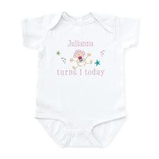 Julianna turns 1 today Infant Bodysuit