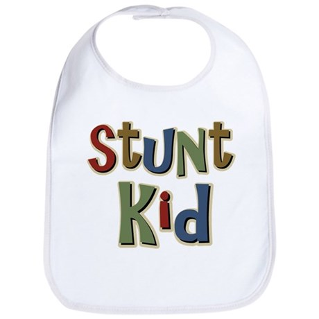 Funny Stunt Kid School Bib