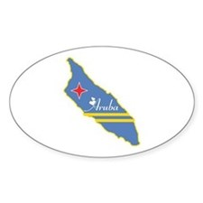 Cool Aruba Oval Decal