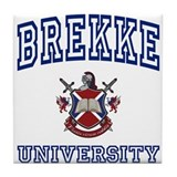 BREKKE University Tile Coaster