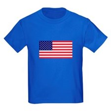 American Flag Kids Blue T-Shirt