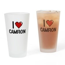 I Love Camron Drinking Glass