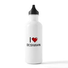 I Love Deshawn Water Bottle