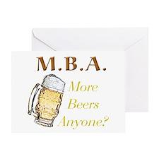 MBA Beers Greeting Card
