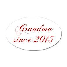 Grandma since 2015-Cho red2 170 Wall Decal