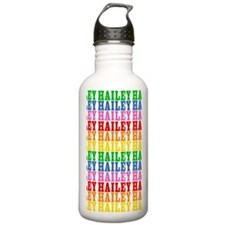 Rainbow Name Pattern Sports Water Bottle