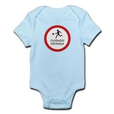 Caution Playing Children - Brazil Infant Bodysuit