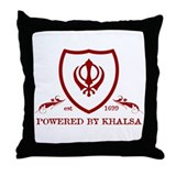 Powered by KHALSA - Throw Pillow