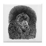 Black Poodle Tile Coaster