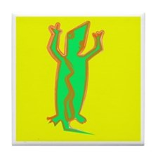 """Green Lizard"" Tile Coaster"