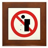 No Spitting - China Framed Tile