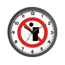 No Spitting - China Wall Clock