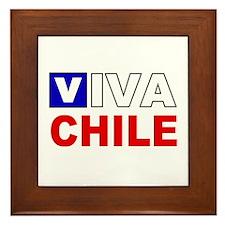 Viva Chile flag Framed Tile