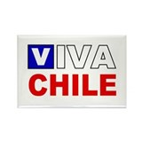 Viva Chile flag Rectangle Magnet (10 pack)