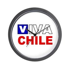 Viva Chile flag Wall Clock