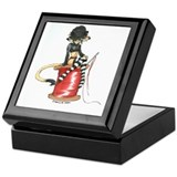 Gothic kitty on a spool - Keepsake Box