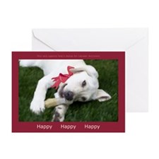 Be Happy Yellow Labrador Holiday Cards (Pk of 20)