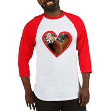 Red Panda Heart Baseball Jersey