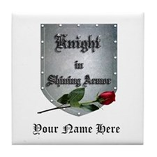 Knight In Shining Armor Rose Tile Coaster