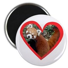 "Red Panda Heart 2.25"" Magnet (10 pack)"