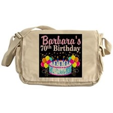 70TH PARTY GIRL Messenger Bag