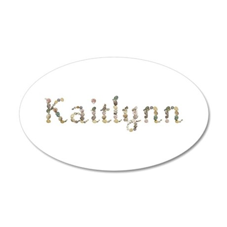 Kaitlynn Seashells 20x12 Oval Wall Decal
