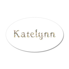 Katelynn Seashells 20x12 Oval Wall Decal