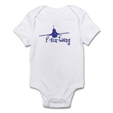 F-six-teeny -blue Infant Bodysuit