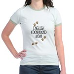 English Coonhound Mom Jr. Ringer T-Shirt