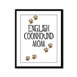 English Coonhound Mom Framed Panel Print