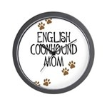 English Coonhound Mom Wall Clock