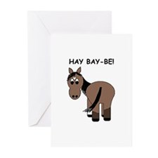 Hay Bay-Be! Horse Greeting Cards (Pk of 20)
