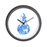 Gandhi on Gaia Wall Clock