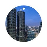 Chicago River Ornament (Round)