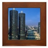 Chicago River Framed Tile