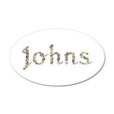 Johns Seashells 35x21 Oval Wall Decal